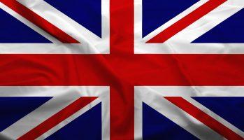 Waving,Flag,Of,United,Kingdom.,Flag,Has,Real,Fabric,Texture.