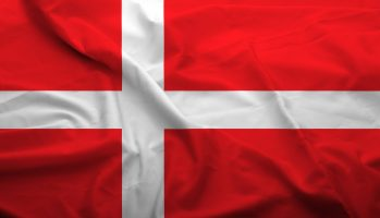 Waving,Flag,Of,Denmark.,Flag,Has,Real,Fabric,Texture.